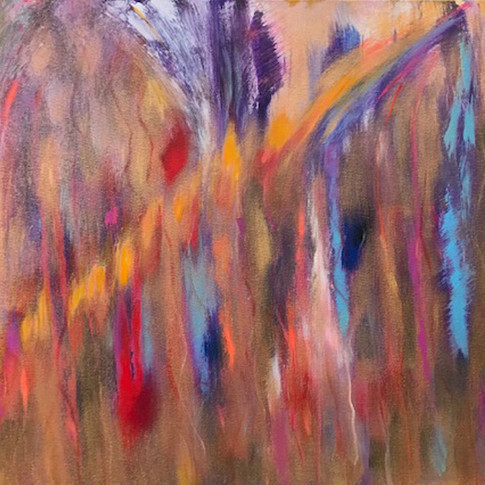Rush, Oil/Acrylic/Metallic on  Canvas, 24 x 30