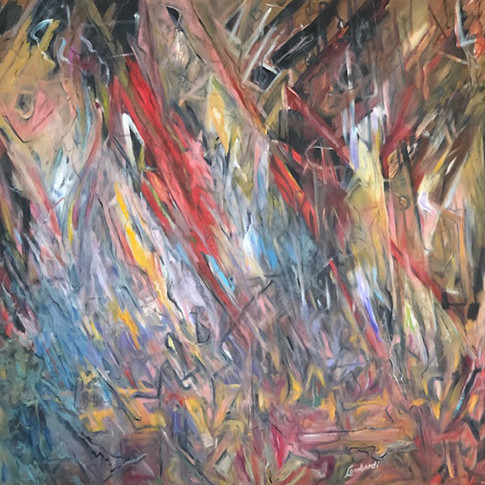 Dig Deep, Oil/Acrylic on Canvas, 48 x 48