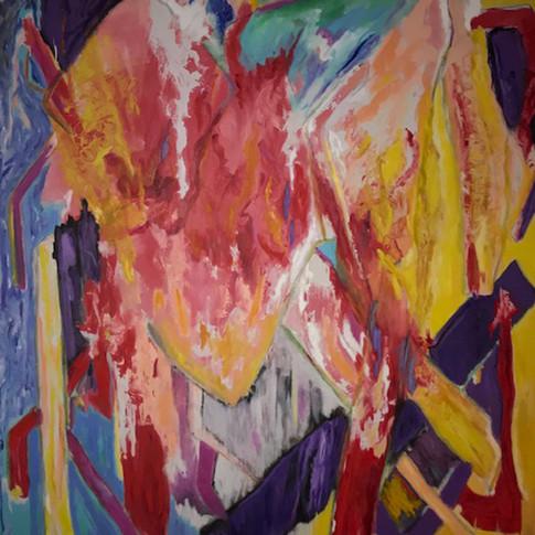 AH, Oil/Acrylic on Canvas, 60 x 72