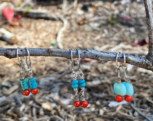 Amazonite and Coral
