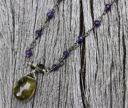 Green Apatite and Purple Chariot