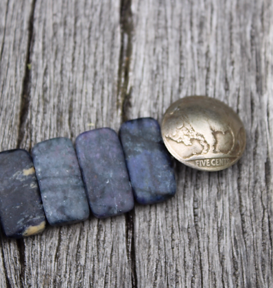 Matte Dumortierite & Buffalo Nickel