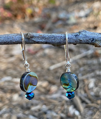 Abalone and Blue Crystal