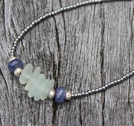 Sea Glass and Tanzanite