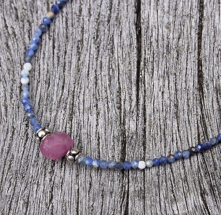 Pink Sapphire and Lapis