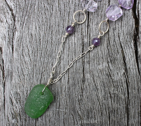 MV Sea Glass, Amethyst and Coin Pearl