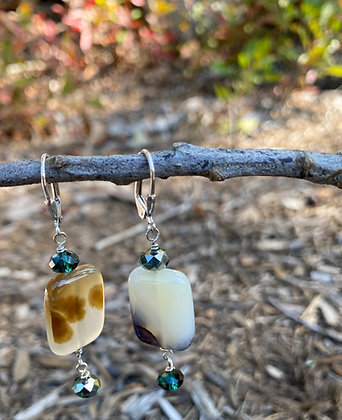 Agate and Green Crystal