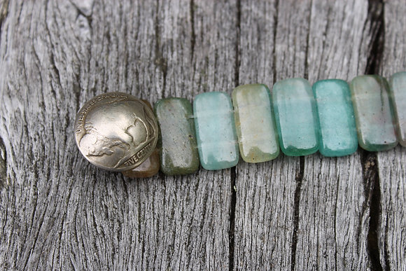 Aquamarine & Buffalo Nickel