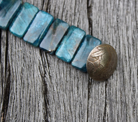 Apatite & Buffalo Head Nickel