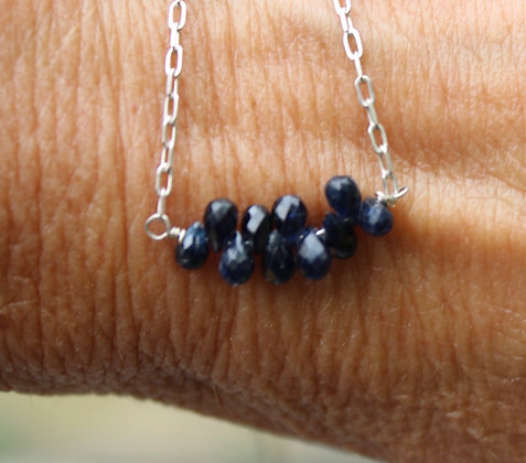 Sapphire and Sterling Silver
