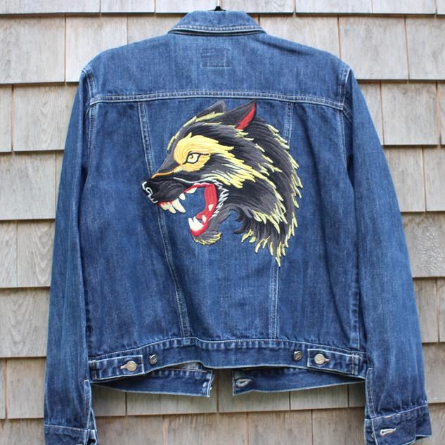 jean jacket- Wolf