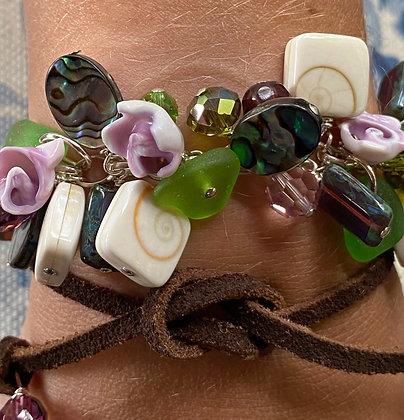 Shakey Bracelet Green Sea Glass