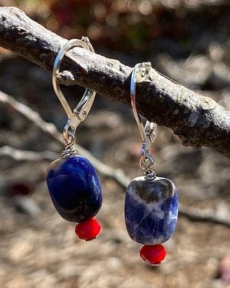 Sodalite and Red Crystal