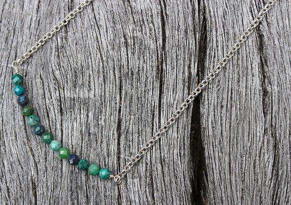 Chrysoprase on Sterling Chain