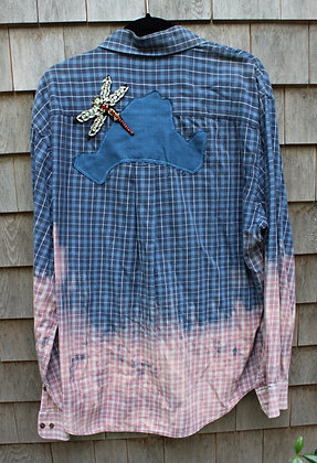 Dragon Fly Vineyard Cotton Shirt