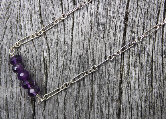 Amethyst on Sterling Chain