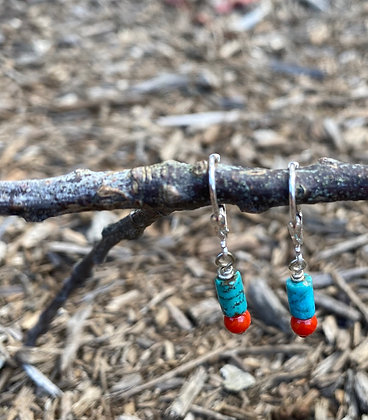 Turquoise Tube and Coral