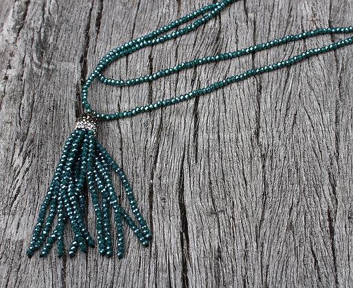 Crystal Tassel Blue/Green