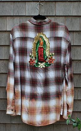 Virgin Mary on Flannel