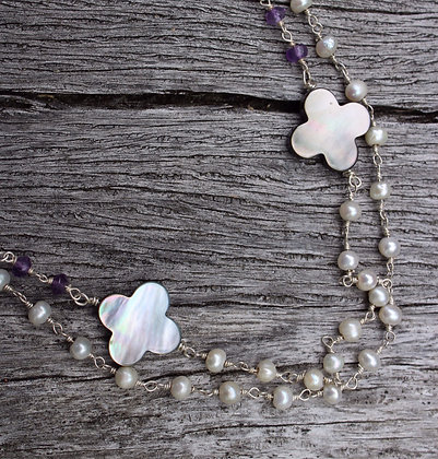 River Shell, Pearl and Amethyst