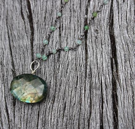 Green Labradorite and Chrysocolla