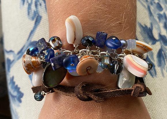 Shakey Bracelet Blue Seagrass