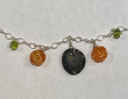 North Shore Stone, Carnelian and Peridot