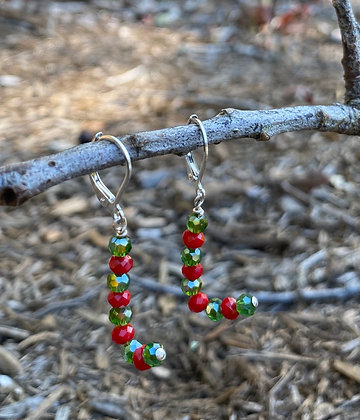 Holiday Candy Cane Earrings