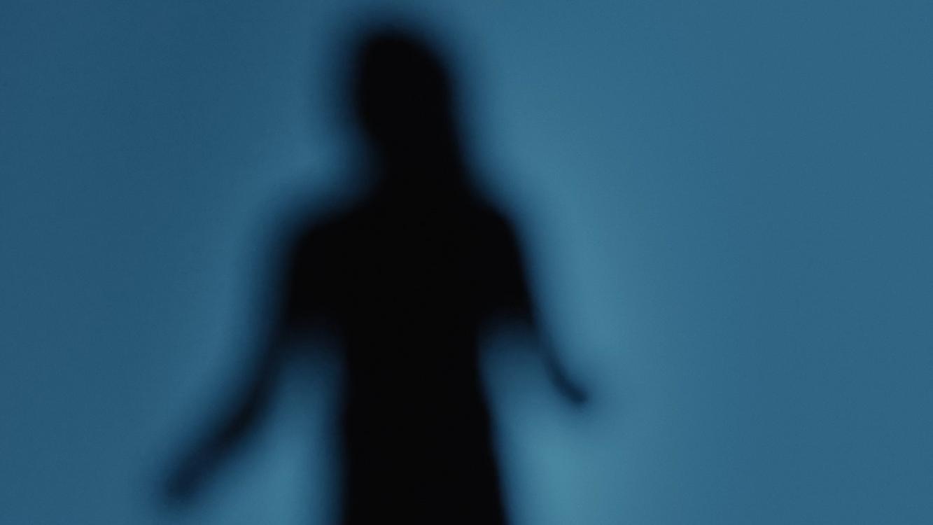 Silhouette einer Person