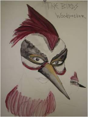 Woodpecker Mask Design