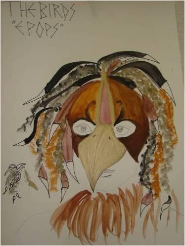 Hoopoe Mask Design