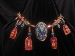 Egyptian polymer clay necklace