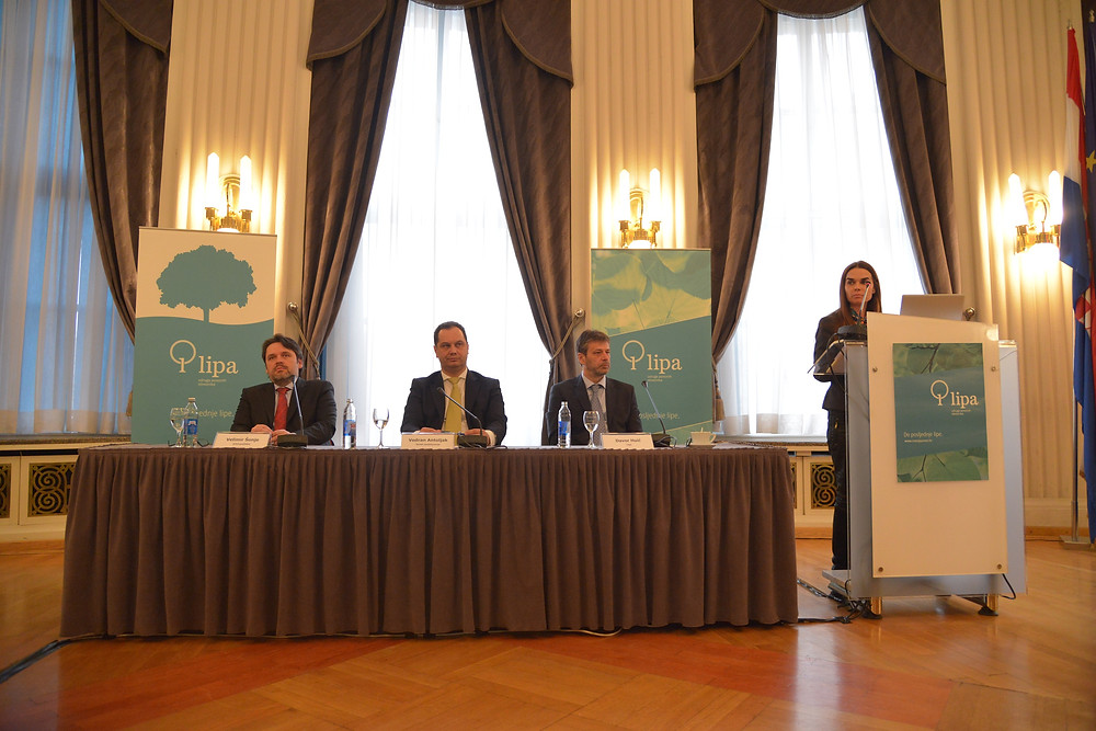 S lijeva na desno: Velimir Šonje, Vedran Antoljak, Davor Huić, Mirela Rašić