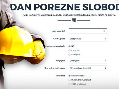 Prosječan hrvatski radnik radi 181 dan u godini za državu