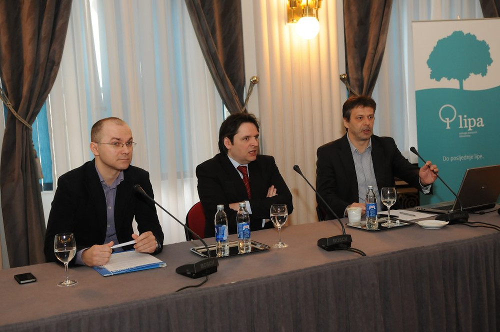 s lijeva na desno: Dragan Bagić, Velimir Šonje, Davor Huić