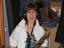 Janice Finlay recording session