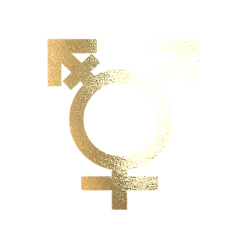 NO 3 WHITE GOLD TRANSGENDER SYMBOLS FM C