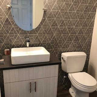 Custom Half-Bath Tiling & Fixtures