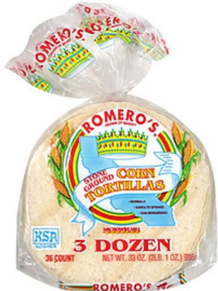 Corn tortillas 3dz