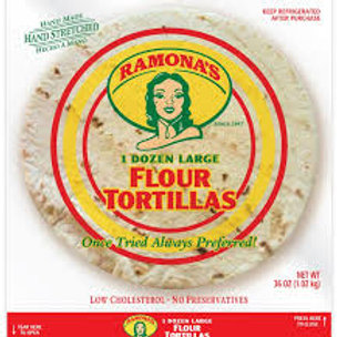 Flour tortillas 1 dz