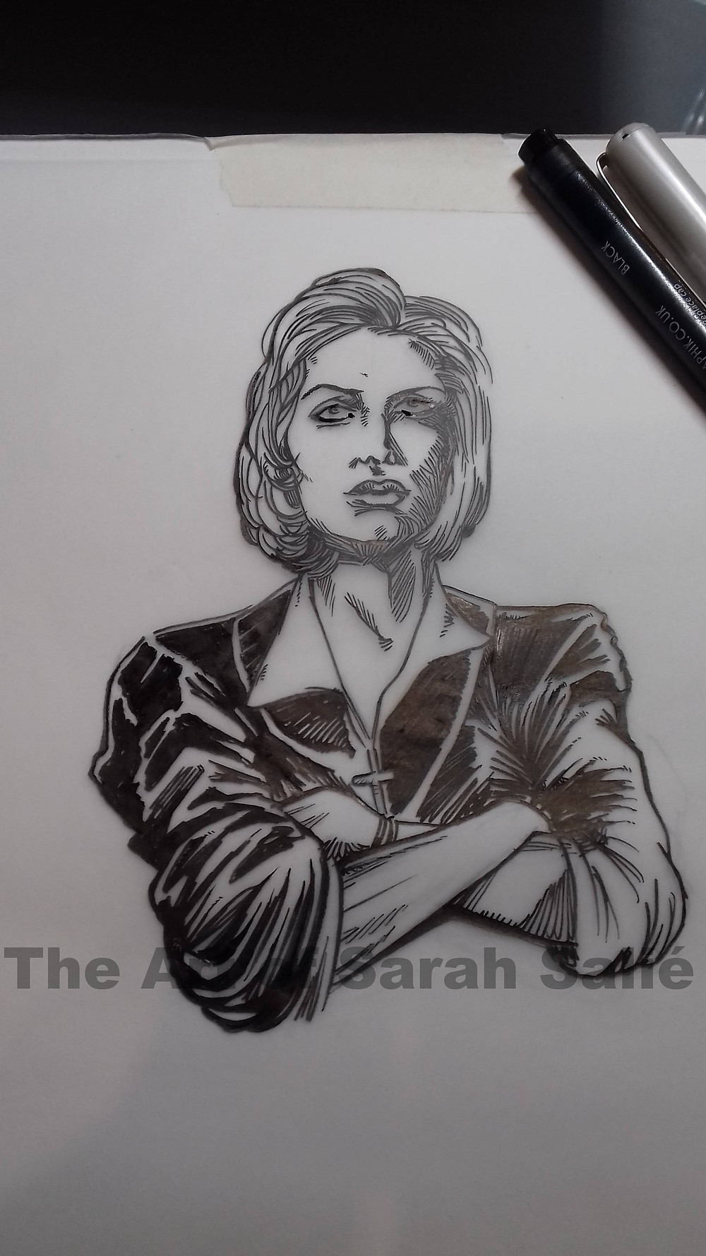 Scully inking