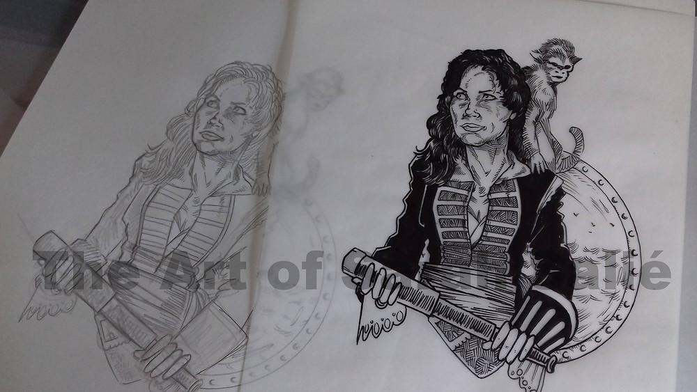 Morgan Adams from pencils to inks