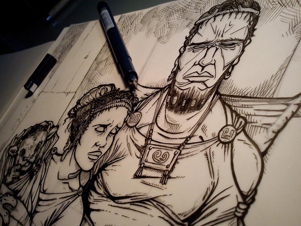 Inking process Minos Family