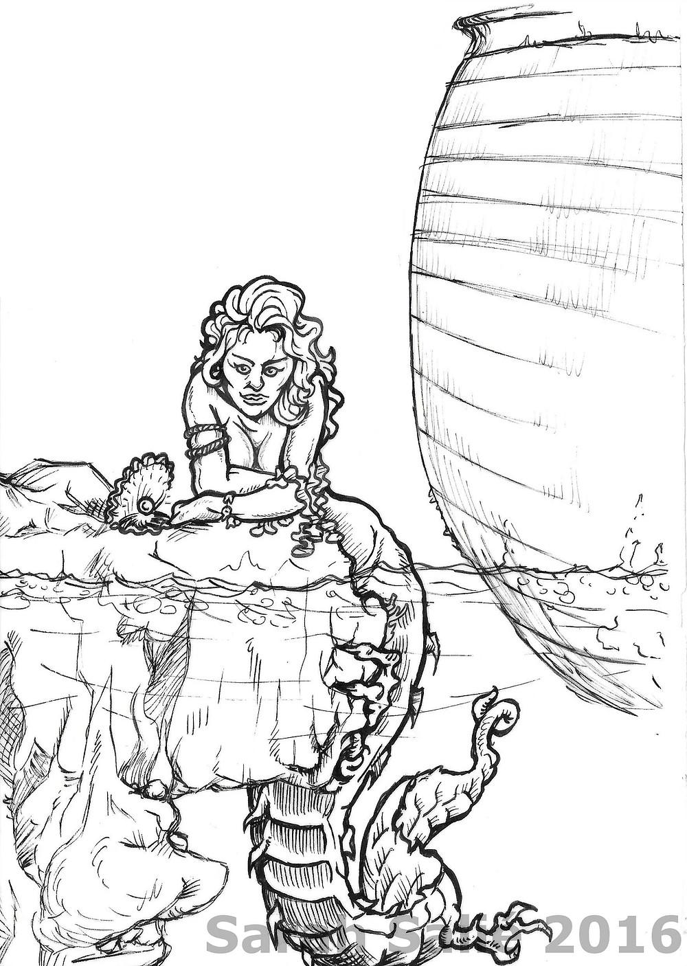 Mermaid beast