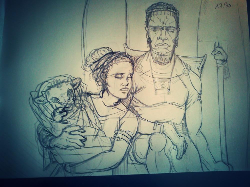 Skizze Minos-Family