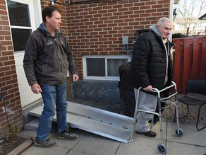 Pickering business helps amputee with ramp donation