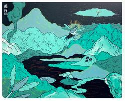 平行世界裡的訊息, 91x72.5cm, acrylic on canvas, 2020 - 張騰遠