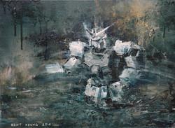 夜尋  42×57cm  2014 oil on canvas 拷貝