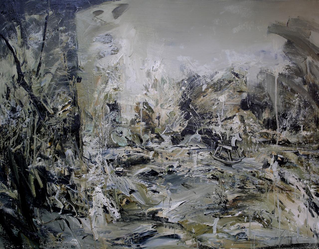 那一個我以為還是小時候的我 130.0×97.0cm  2015 oil on canvas 拷貝