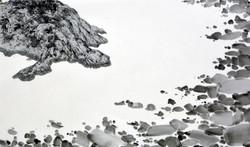 島龜  40x67cm_宋勝浩